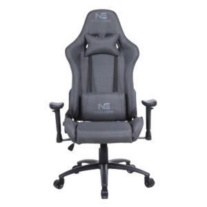 Nordic gaming racer fabric gamer chair dark grey